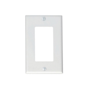 Leviton Decora 1 Gang Wall Plate white - Pack of 2