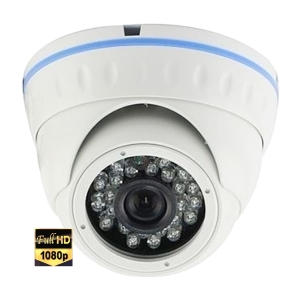 HD-SDI Outdoor Fixed Lens 1080P 2MP IR Dome Camera 20 m - used