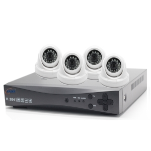 FASEE 4CH AHD DVR KIT HD DOME CAMERAS 1MP 720P
